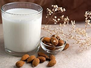 Glass of raw Almond milk