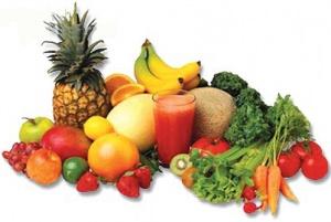 Aguas, verduras y frutas