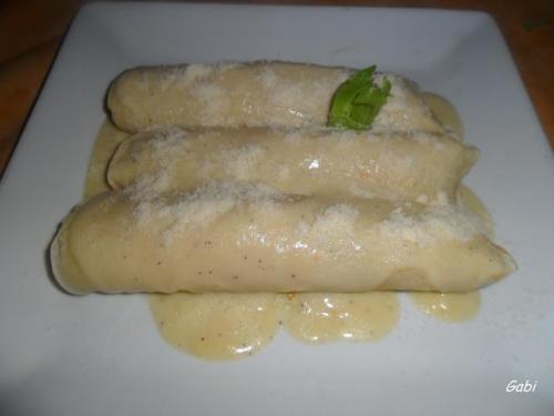 Canelones de pollo y paté. Una receta saludable y deliciosa para estas fiestas