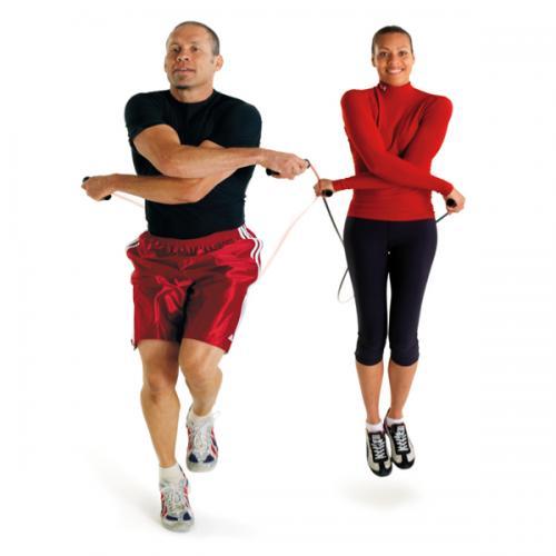 Reducir el peso corporal practicando cuerda