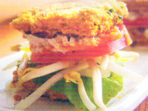 Sándwich en pan de mijo